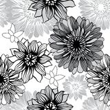 Vector background with hand drawn flowers Stock Photos
