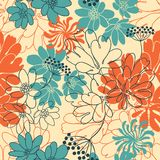 Vector background with hand drawn flowers Royalty Free Stock Photo