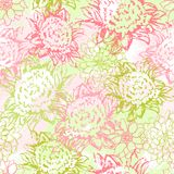 Vector background with hand drawn flowers Stock Images