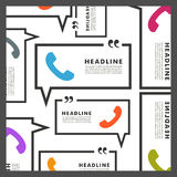 Vector background of handsets and speech bubbles Royalty Free Stock Images