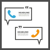 Vector background of handsets and speech bubbles Stock Images