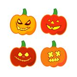 Vector background Happy Halloween. Halloween Party with pumpkins. Poster, postcard Stock Image