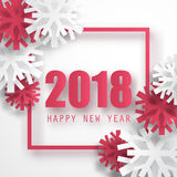 2018 vector background. Happy New Year greeting card. Christmas poster. Royalty Free Stock Photo