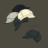Vector background with hats Royalty Free Stock Images