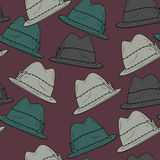 Vector background with hats Royalty Free Stock Photo