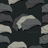 Vector background with hats Stock Image