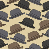 Vector background with hats Royalty Free Stock Image