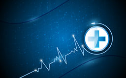 Vector background health care concept Royalty Free Stock Image
