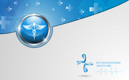 Vector background health care concept template design Royalty Free Stock Photography