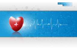 Vector background health care and medical concept Stock Photos