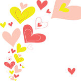 Vector background heart Stock Images