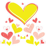 Vector background heart Royalty Free Stock Images