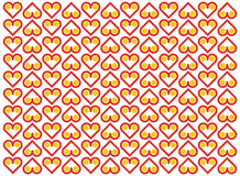 Vector background with heart pattern Stock Image