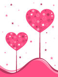 Vector background with heart-shaped tree Stock Image
