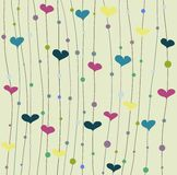 Vector background with hearts Stock Photos