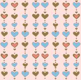 Vector background with hearts Royalty Free Stock Photo