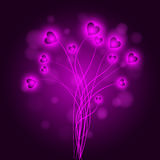 Vector background with hearts Royalty Free Stock Photos