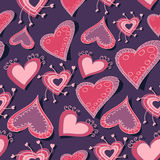 Vector background with hearts Royalty Free Stock Photography