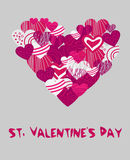 Vector background with hearts. Royalty Free Stock Photo