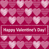 Vector background with hearts. Stock Photography