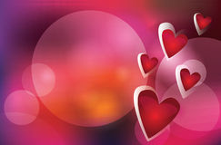 Vector background with hearts Royalty Free Stock Image