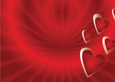 Vector background with hearts Stock Photo