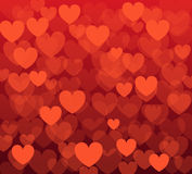 Vector background with hearts. Vector seamless background with hearts stock illustration