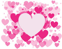 Vector background with hearts. Vector seamless background with hearts stock photos