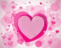 Vector background with hearts. Vector seamless background with hearts stock photography