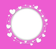 Vector background with hearts. Vector seamless background with hearts royalty free illustration