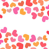 Vector background hearts. Vector background to Valentine's Day with hearts Stock Images
