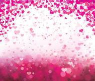 Vector background with hearts for Valentines day d Royalty Free Stock Image