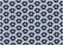 Vector background of the hexagonal. Honeycomb royalty free illustration