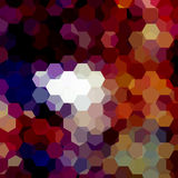 Vector background with hexagons. Stock Photo