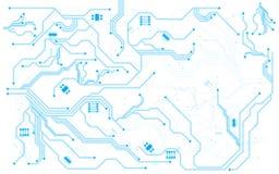 Vector background hi tech pattern circuit design Stock Image
