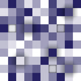Vector background. Illustration of abstract texture with blue squares. Eps10 Stock Photography