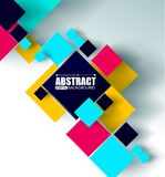 Vector background. Illustration of abstract texture with squares. Pattern design for banner, poster, flyer, cover. Brochure.eps 10 Stock Images