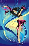 Vector background illustration the dancing girl Stock Photo