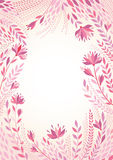 Vector background illustration with a frame of flowers. Royalty Free Stock Image