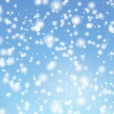 Vector background with the image falling snow in the sky Royalty Free Stock Photos
