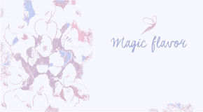 Vector background with the image of flowers in Stock Photo
