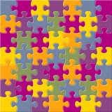Vector background with joined jigsaw puzzle pieces royalty free illustration