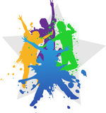 Vector background of kids jumping Stock Image