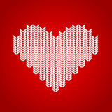 Background with knitted heart Royalty Free Stock Photo