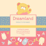 Vector background with a label products for babies Royalty Free Stock Image
