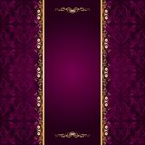 Vector background with lace ornament. Vector filigree floral pattern on a purple background Stock Image