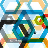 Vector background of large colored hexagons eps Stock Photo