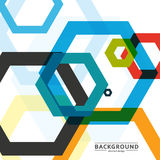 Vector background of large colored hexagons eps Stock Images