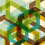 Vector background of large colored hexagons eps Royalty Free Stock Photos