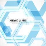 Vector background of large colored hexagons eps.  Stock Image
